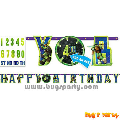 TM Ninja Birthday Banner