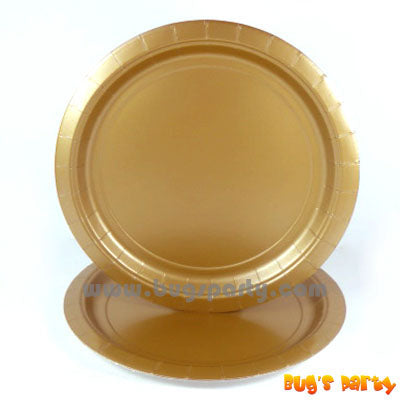 Gold Color Paper Plates