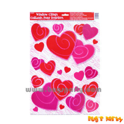 Valentine's Heart Window Cling