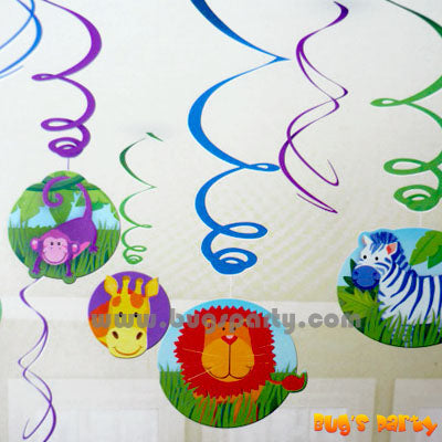 Jungle Animal Swirls Deco