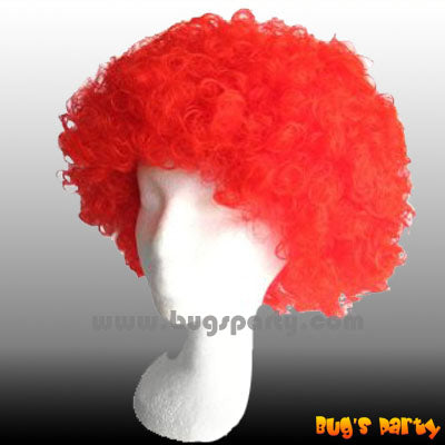 Wig Curly S Red