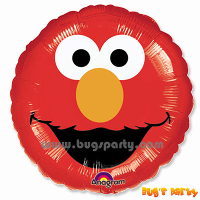 Red Color Elmo Portrait Balloon