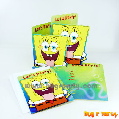Spongebob Invitation Cards