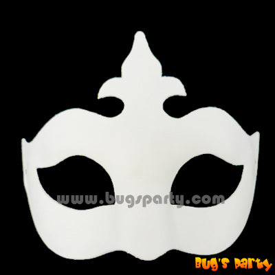 White Mask With Crown