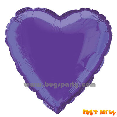 Purple heart shaped balloon