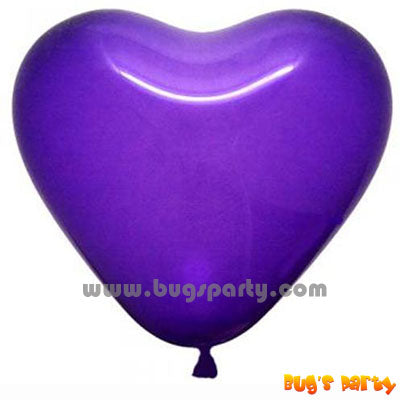 Balloon Latex Violet Hrt