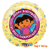 Dora Happy Birthday Balloons