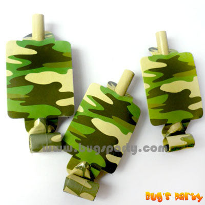 Camouflage Party Blowouts