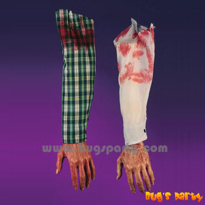 Halloween props Severed bloody Arm with sleeve
