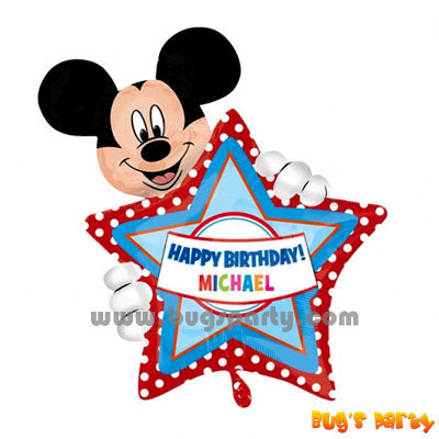 Mickey Personalise Balloon