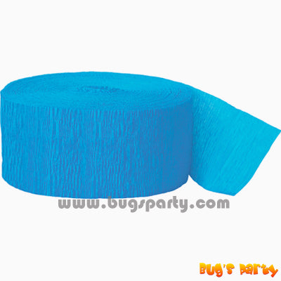 Crepe Streamer Turquoise Blue