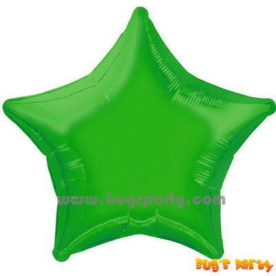 Green Star Shaped Balloon