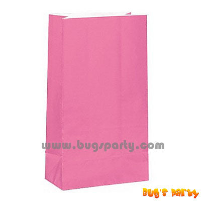 12 Pink Color paper bags