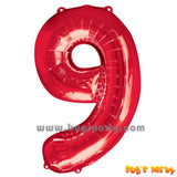 Red 6 Shaped Number Balloon