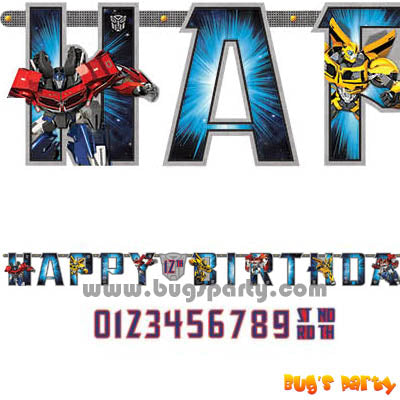 Transformers Bday Banner