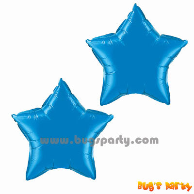Blue Star Shaped Balloon