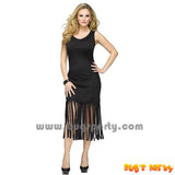 Costume Black Fringe Dress