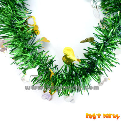 Green Tinsel Garland