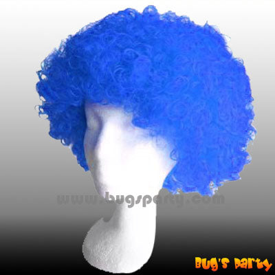 Wig Curly S Blue