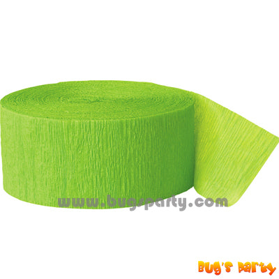 Crepe Streamer Lime Green
