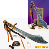 Pirate Accessories, sword, eye patch and ear ring