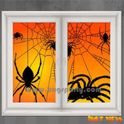 Window Silhouettes Spiders