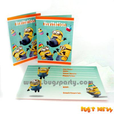 Despicable Me Invitation