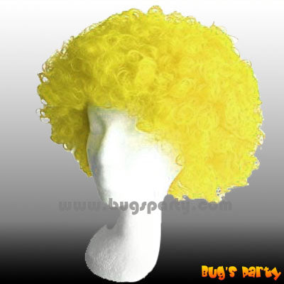 Wig Curly S Yellow