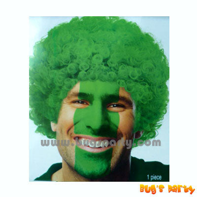 Green Curly Afro Wig