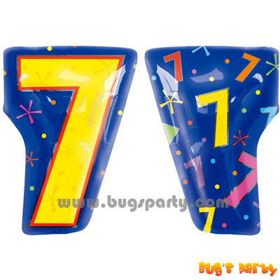 Multicolor Number 7 Balloon