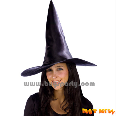 Witch Hat Satin Black
