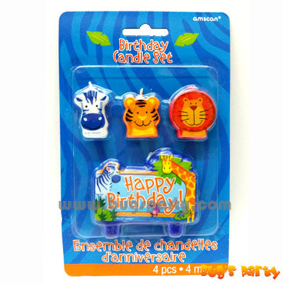 Candle Jungle Animals