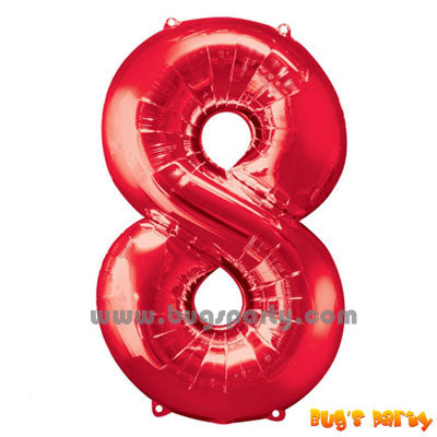 Red 8 Shaped Number Balloon
