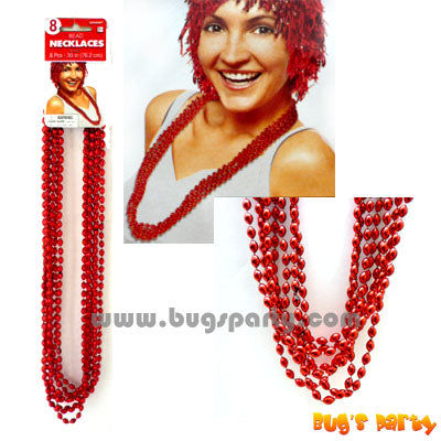 Beads Necklace Red