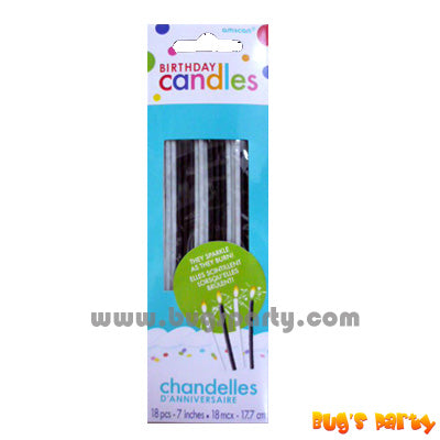 Black & White Sparkling Candles