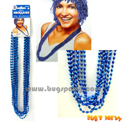 Beads Necklace Blue