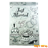 Just Married Window Clings