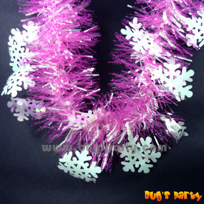 Garland Pink Tinsel