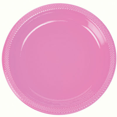 Pink color Plastic Plates