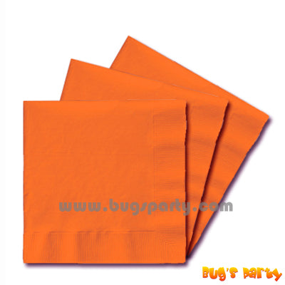 Orange color paper Napkins