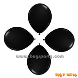 Balloon 6in Rnd Black