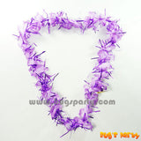 Purple color hawaiian lei, tinsel
