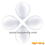 Balloon 6in Rnd White