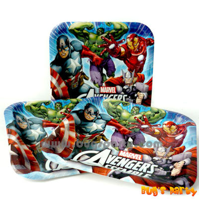 Avengers 9in Plates