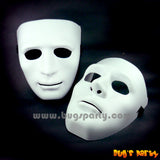 Full Face White Plastic Mask