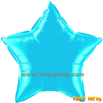 Tiffany Blue color star shaped balloon