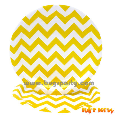 Yellow Chevron Plates