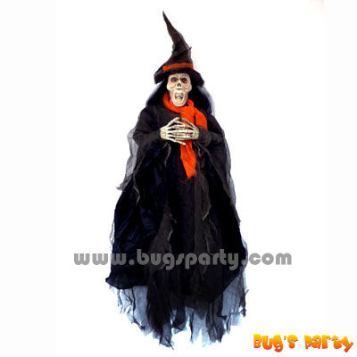 36in Lite Up Hanging Witch Halloween prop