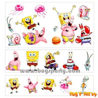 Spongebob Value Pack Tattoos