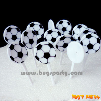 Soccer Ball shaped party Picks